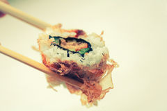 Sushi covered with dryed tuna with copyspace Stock Image