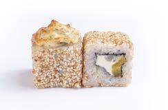Sushi cozido dois Imagens de Stock
