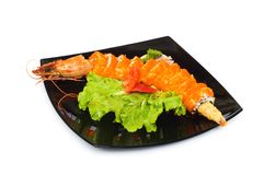 Sushi and crab isolated Stock Photos
