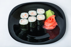 Sushi with crab on a plate. Stock Images