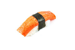 Sushi crab stick (kani nigiri) Royalty Free Stock Image