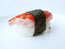 Sushi crab stick roll with seaweed Stock Photo