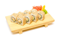 Sushi with crab Stock Photography