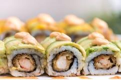 Sushi croccanti Fotografie Stock Libere da Diritti