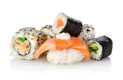 Sushi with a cucumber  Royalty Free Stock Photography