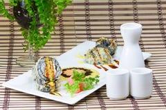 sushi cuits à la friteuse photo stock