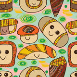Sushi cute seamless pattern Royalty Free Stock Photography