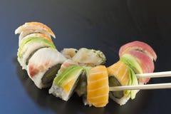 Sushi d'arc-en-ciel Image stock