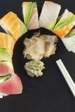 Sushi d'arc-en-ciel Images libres de droits