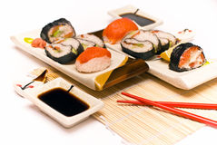 Sushi d'isolement Photographie stock