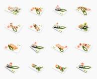 Sushi d'isolement Images libres de droits