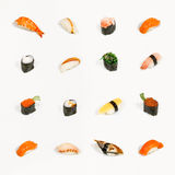 Sushi d'isolement Images stock