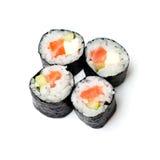 Sushi d'isolement sur le blanc Photographie stock libre de droits