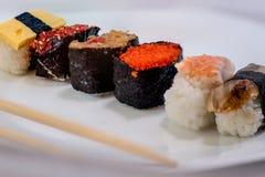 Sushi d'un plat Photo stock