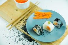 Sushi d'un plat Photographie stock libre de droits