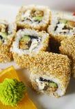 Sushi d'Unagi Maki photographie stock libre de droits