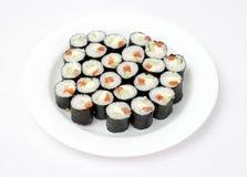 Sushi d'une plaque Images libres de droits