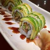 Sushi da enguia com abacate Imagem de Stock