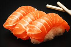 Sushi on dark background Royalty Free Stock Images