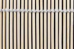 Sushi de bambu que rola Mat Texture Fotografia de Stock Royalty Free