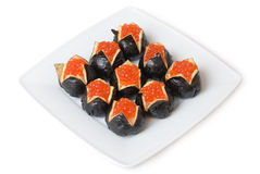 Sushi de caviar Images stock