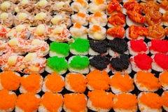 Sushi de caviar Photographie stock