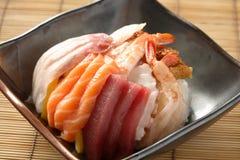Sushi de Chirashi Imagen de archivo