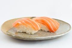 Sushi de color salmón de Nigiri Foto de archivo