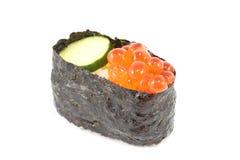 Sushi de color salmón del huevo Imagen de archivo libre de regalías