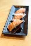 Sushi de color salmón fumado Foto de archivo