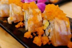 Sushi de color salmón Rolls Imágenes de archivo libres de regalías