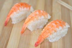 Sushi de crevette Photographie stock libre de droits