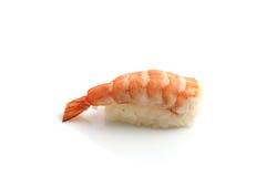 Sushi de crevette d'isolement à l'arrière-plan blanc Photo libre de droits