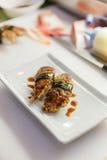 Sushi de Foie Gras pronto para servir Imagens de Stock Royalty Free