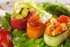 Sushi de Gunkan Maki Imágenes de archivo libres de regalías