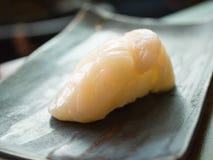 Sushi de Hotate (concha de peregrino) Fotos de archivo