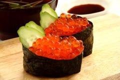 Sushi de Ikura Imagen de archivo libre de regalías