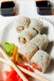 Sushi de Japanisse Fotos de archivo