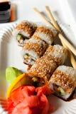 Sushi de Japanisse Fotos de archivo libres de regalías
