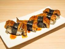 Sushi de la anguila Imagenes de archivo