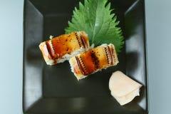 Sushi de la anguila del mar Imágenes de archivo libres de regalías