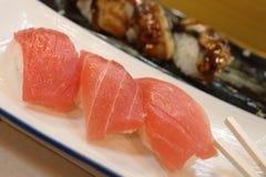 Sushi de la brema de mar Imagen de archivo libre de regalías