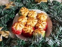 Sushi de la Navidad Sushi del Año Nuevo imágenes de archivo libres de regalías