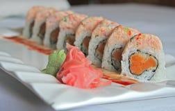 Sushi de la patata dulce Fotografía de archivo libre de regalías