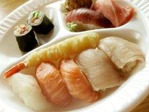 Sushi de los alimentos de preparación rápida Foto de archivo libre de regalías
