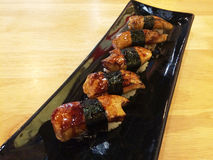 Sushi de los gras de Foie Fotos de archivo