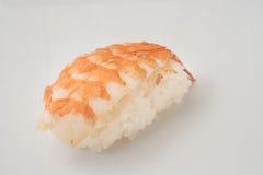 Sushi de los mariscos en un fondo blanco aislado Foto de archivo libre de regalías