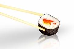 Sushi de los palillos Fotos de archivo