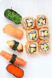 Sushi de mélange Images libres de droits