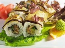 Sushi de Maki - rodillo del otoño Fotografía de archivo